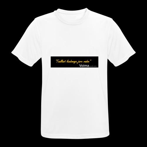 Voimavarat slogani - miesten tekninen t-paita