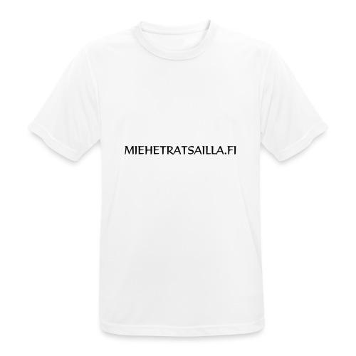 miehetratsailla - miesten tekninen t-paita