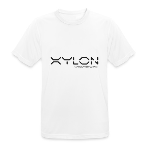 Xylon Handcrafted Guitars (plain logo in black) - Men's Breathable T-Shirt