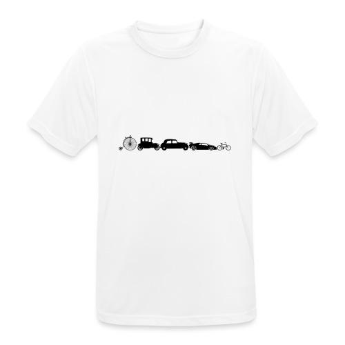 evolution of vechicles - Mannen T-shirt ademend actief