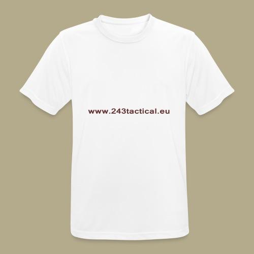 .243 Tactical Website - Mannen T-shirt ademend actief