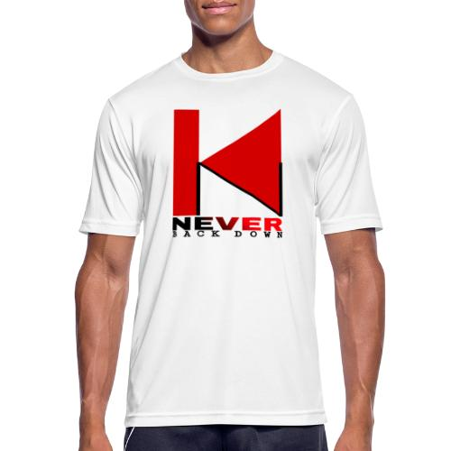 NEVER BACK DOWN - T-shirt respirant Homme