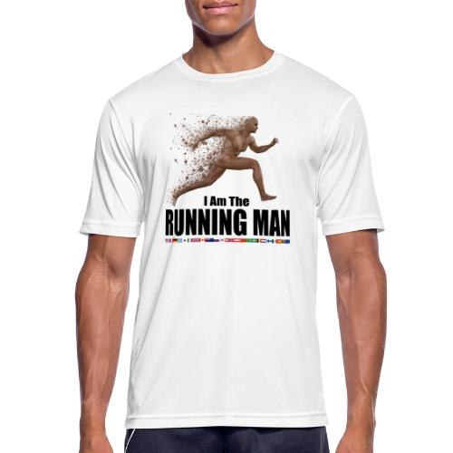 I am the Running Man - Sportswear for real men - Men's Breathable T-Shirt