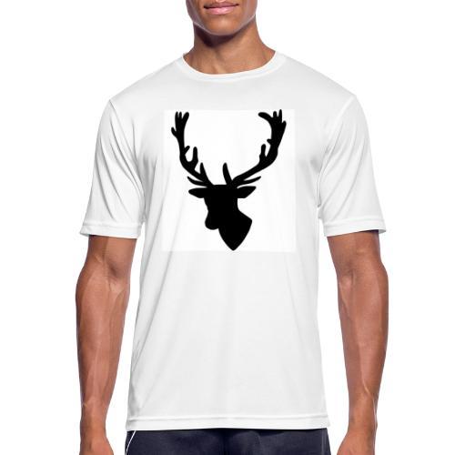 Hirch B - Männer T-Shirt atmungsaktiv