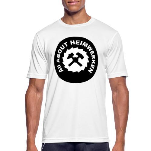 ALL ABOUT HEIMWERKEN - LOGO - Männer T-Shirt atmungsaktiv