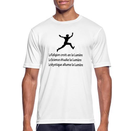 Lumière Religion Science Mystique - T-shirt respirant Homme