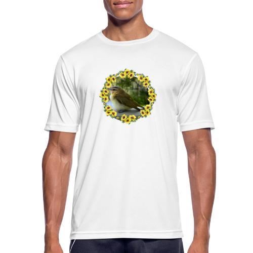 Vögelchen im Blumenkranz - Männer T-Shirt atmungsaktiv