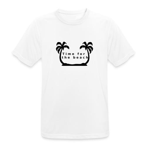 Time for the beach! Palme Geschenk Urlaub - Männer T-Shirt atmungsaktiv