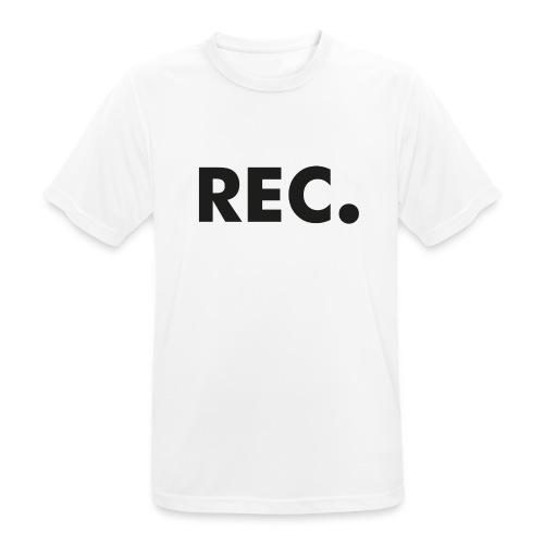 Rec zwart - Mannen T-shirt ademend actief