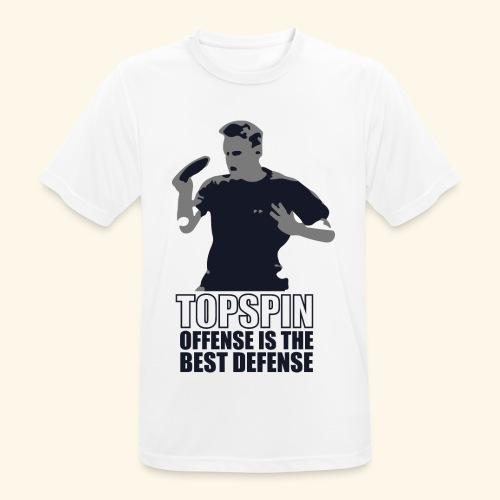 Good slashing serve table tennis - Männer T-Shirt atmungsaktiv