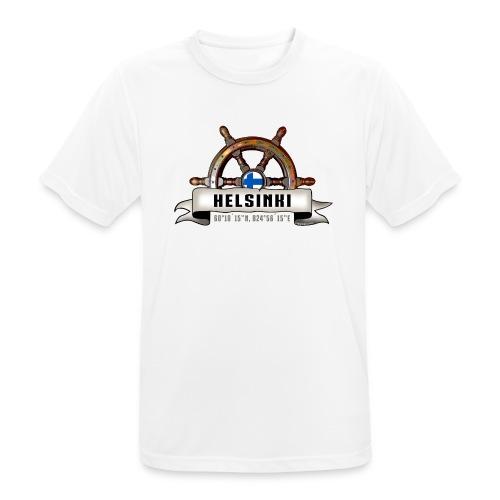 Helsinki Ruori - Merelliset tekstiilit ja lahjat - miesten tekninen t-paita