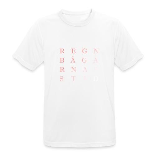 REGNBÅGARNAS STAD - Andningsaktiv T-shirt herr