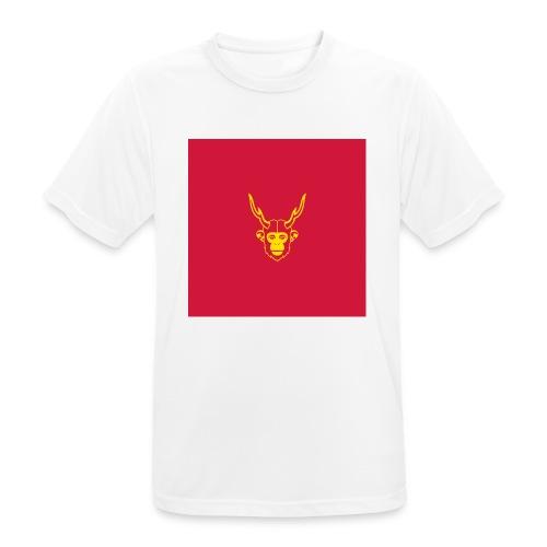 scimmiacervo sfondo rosso - Maglietta da uomo traspirante