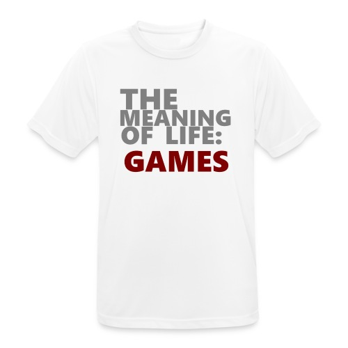 T-Shirt The Meaning of Life - Mannen T-shirt ademend