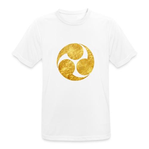 Kobayakawa Mon Japanese clan gold on black - Men's Breathable T-Shirt