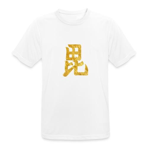 Uesugi Mon Japanese samurai clan in gold - Men's Breathable T-Shirt