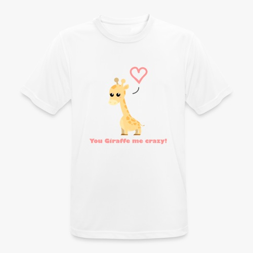 Giraffe Me Crazy - Herre T-shirt svedtransporterende