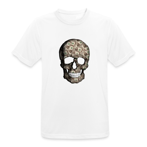 Skull Money Black - Camiseta hombre transpirable