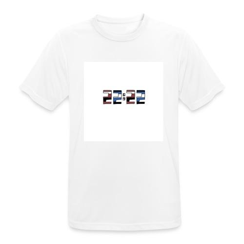 22:22 buttons - Mannen T-shirt ademend