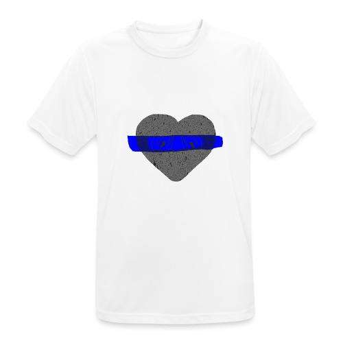 serduszko blu - Koszulka męska oddychająca