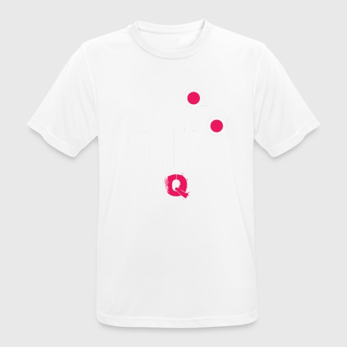 T-shirt FUQU logo colore bianco - Maglietta da uomo traspirante