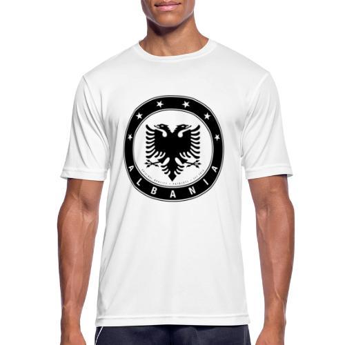 Patrioti Albania Black - Männer T-Shirt atmungsaktiv
