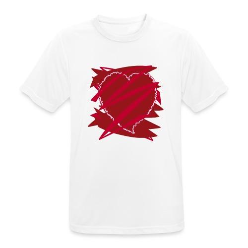 corazón enamorado, corazón roto - Camiseta hombre transpirable