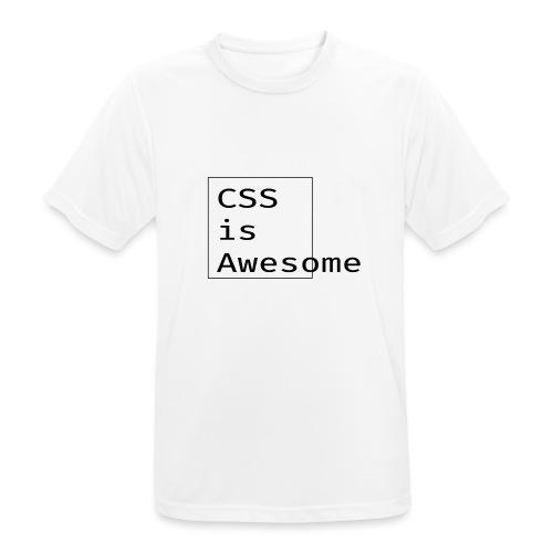 cssawesome - black - Mannen T-shirt ademend actief