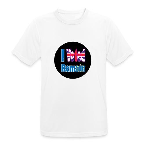 I Voted Remain badge EU Brexit referendum - Men's Breathable T-Shirt