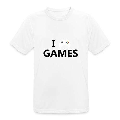 I Love Games - Camiseta hombre transpirable