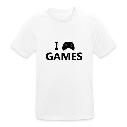 I Love Games 3 - Camiseta hombre transpirable