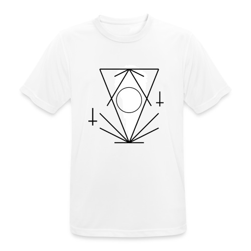 Geo-oddity_line_whiteout - Men's Breathable T-Shirt