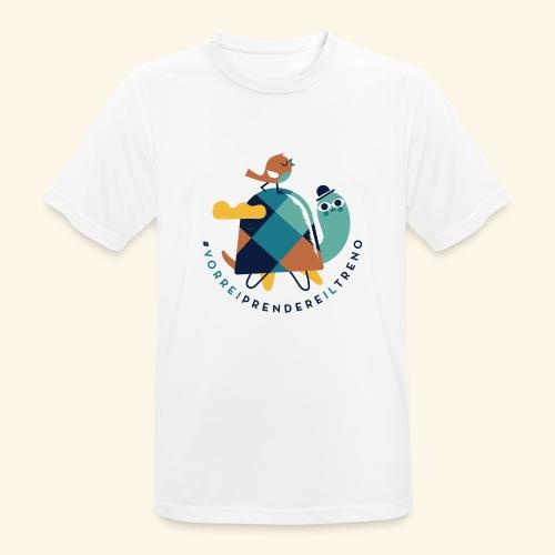 Tartaruga e uccellino - Maglietta da uomo traspirante