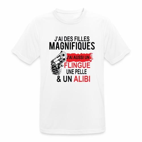 J'AI DEUX FILLES MAGNIFIQUES Best t-shirts 25% - T-shirt respirant Homme