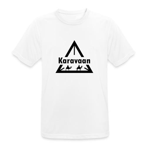 Karavaan Black (High Res) - Mannen T-shirt ademend