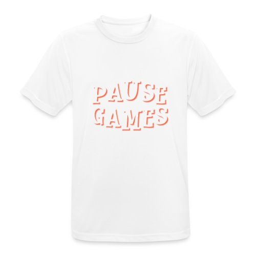 Pause Games Text - Men's Breathable T-Shirt