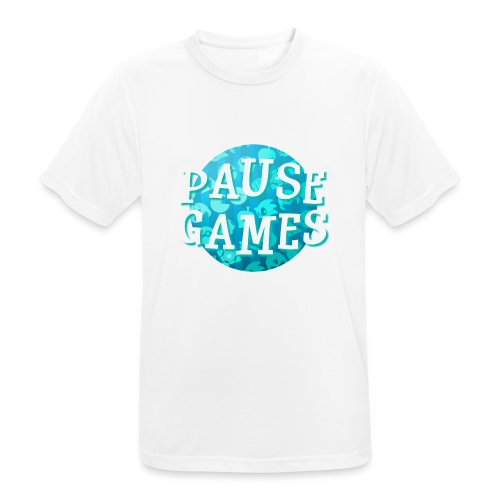 Pause Games New Design Blue - Men's Breathable T-Shirt