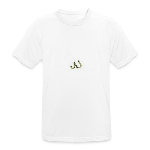 logo2 6 pinkki - miesten tekninen t-paita