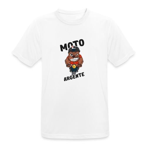 moto argente - T-shirt respirant Homme