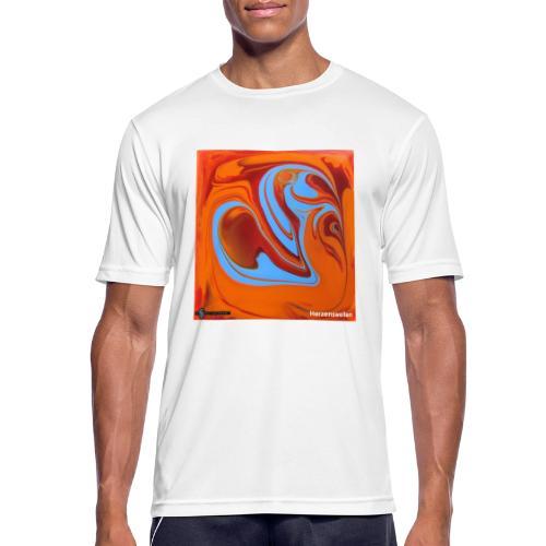 TIAN GREEN Mosaik DK005 - Herzenswelten - Männer T-Shirt atmungsaktiv