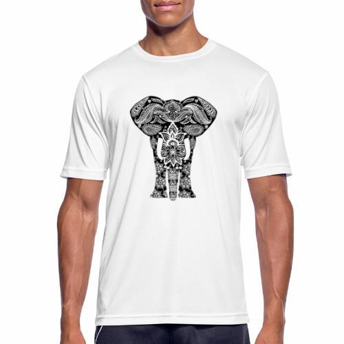 Ażurowy słoń - Koszulka męska oddychająca