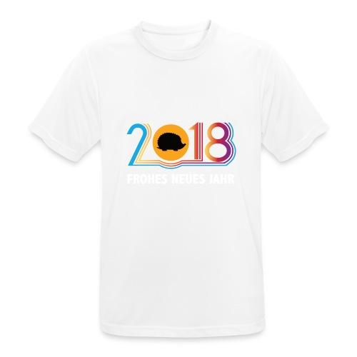 Frohes neues Jahr 2018 Igeldesign - Männer T-Shirt atmungsaktiv