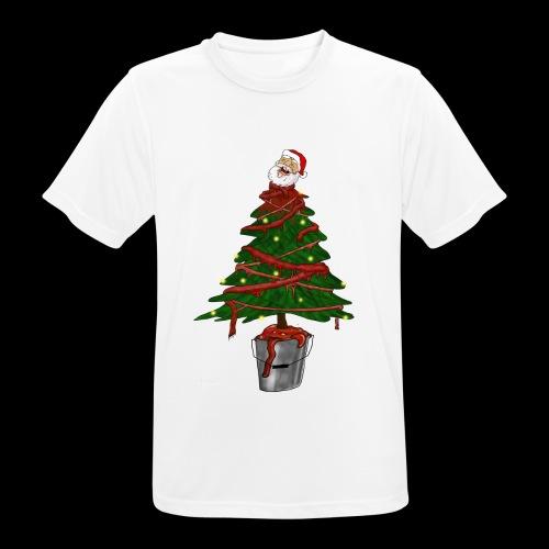 Messy Christmas - Mannen T-shirt ademend actief