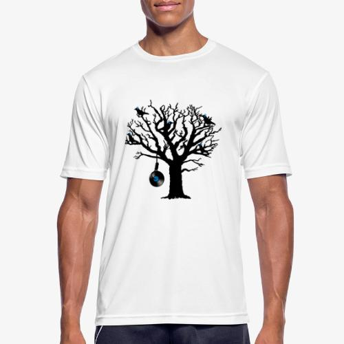 Musical Birds in Tree 2 blau Hangman Vinyl - Männer T-Shirt atmungsaktiv