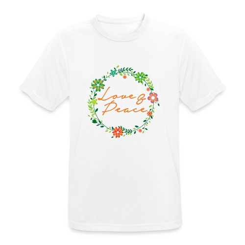 Love and Peace - Men's Breathable T-Shirt