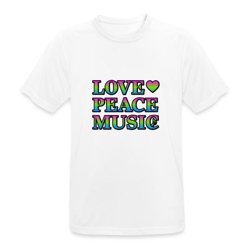 Love Peace Music - Men's Breathable T-Shirt