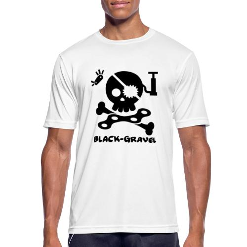Black T-Shirts Sport - Maglietta da uomo traspirante