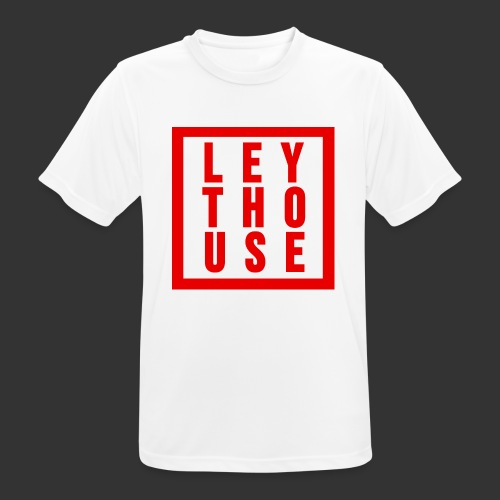 LEYTHOUSE Square red - Men's Breathable T-Shirt