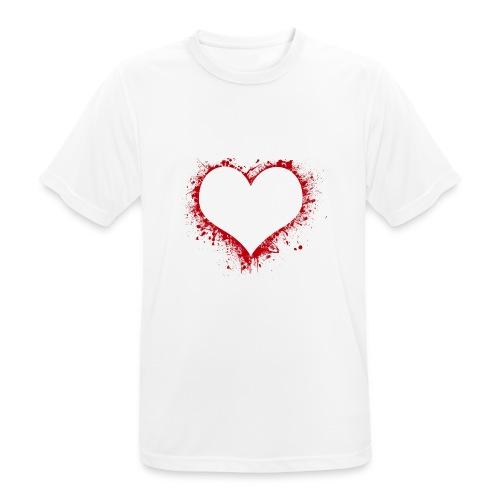 Herz/Heart - Männer T-Shirt atmungsaktiv