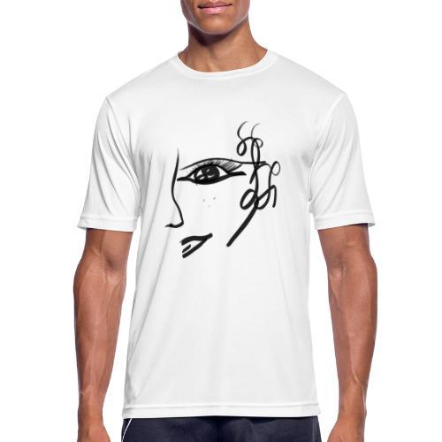 Gesicht - Männer T-Shirt atmungsaktiv